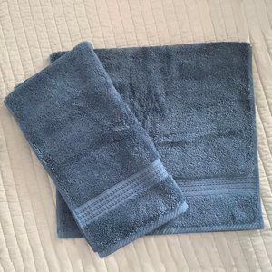 Two Biltmore Supima Bathroom Hand Towels - 'Slate'